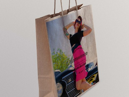Aeromerica custom photo shopping bags (use your own photo!)